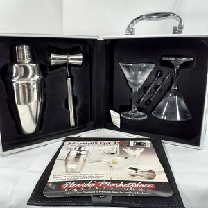 Martinis For Two With Locking Case 6 Pc